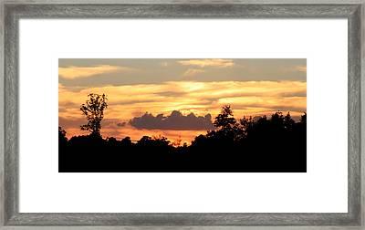 Sunset 1 Framed Print by Veronica Ventress
