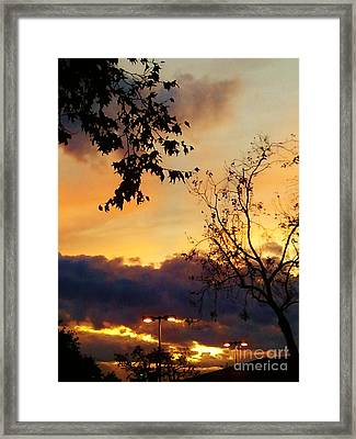 Framed Print featuring the photograph Sunset 2 by Jasna Gopic
