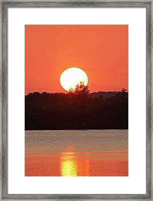 Sunset 3 Framed Print by Becky Lodes