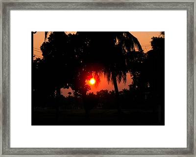 Sunset 4 Framed Print by Johnson Moya