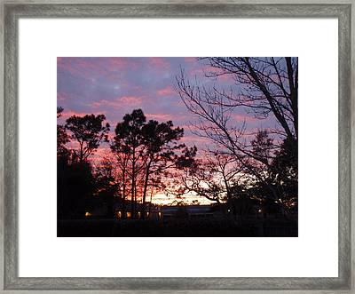 Sunset 7 Framed Print by Michael Milanak