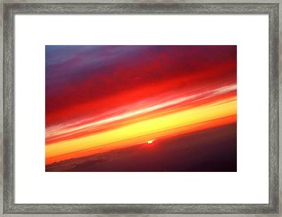 Sunset Above The Clouds Framed Print by James BO  Insogna