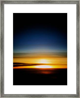 Sunset Above The Clouds Framed Print by Jyotsna Chandra