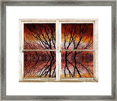 Sunset Abstract Rustic Picture Window View Framed Print by James BO  Insogna