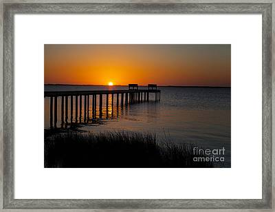 Sunset Across Currituck Sound Framed Print