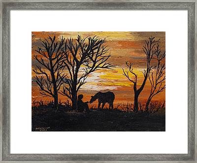 Sunset After A Great Ride Framed Print