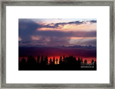 Sunset After Storm Framed Print