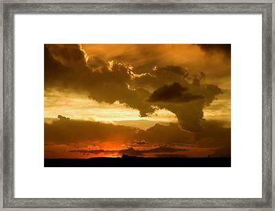 Sunset After The Storm Framed Print by Ellen Heaverlo
