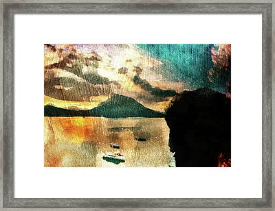 Framed Print featuring the digital art Sunset And Fear by Andrea Barbieri