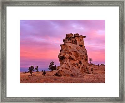 Sunset And Form Framed Print by Leland D Howard