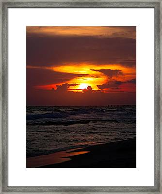 Framed Print featuring the photograph Sunset by Anna Rumiantseva