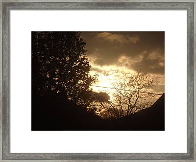 Framed Print featuring the photograph Sunset - April 30 2012 by Martin Blakeley