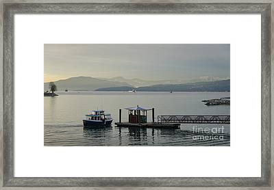 Sunset Aquatic Beach Centre Vancouver Bc Canada Framed Print by Andy Smy