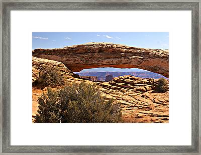 Sunset Arch Framed Print by Marty Koch