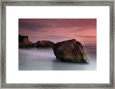 Sunset At Arch Rock Framed Print by Dave Sribnik