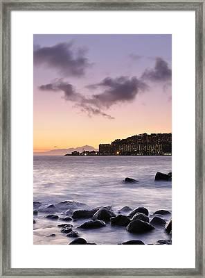 Sunset At Arguineguin Framed Print by Cristo Bolanos