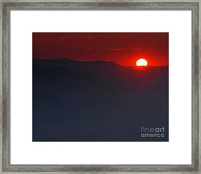 Sunset At Brasstown Bald Framed Print by Nature Scapes Fine Art