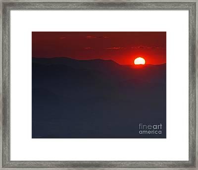Sunset At Brasstown Bald Framed Print