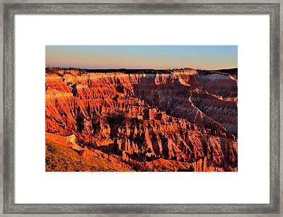 Sunset At Cedar Breaks Framed Print by Mark Bowmer