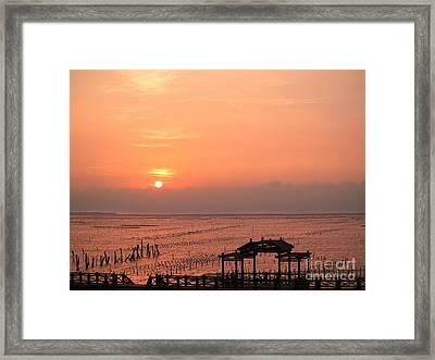 Sunset At Cigu Bay Framed Print by Yali Shi