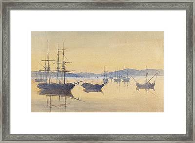 Sunset At Constantinople Framed Print by M Baillie Hamilton
