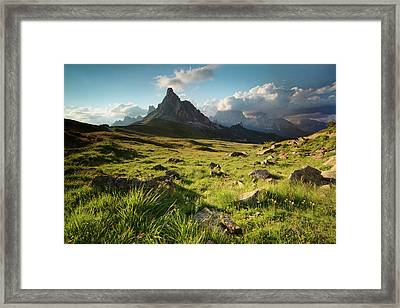 Sunset At Giau Pass Framed Print by Matteo Colombo