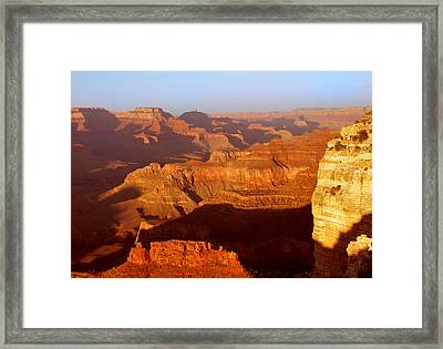 Framed Print featuring the photograph sunset at Grand by Rima Biswas