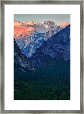 Sunset At Half Dome Framed Print by Rick Berk