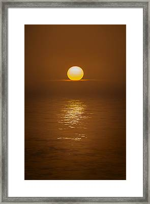 Sunset At Hoopers Point Framed Print by Andy Astbury