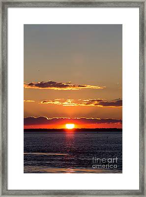 Sunset At Indian River 3 Framed Print
