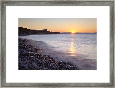Sunset At Kilve Beach, Somerset Framed Print by Nick Cable