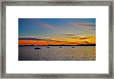 Sunset At Lake Memphremagog - Qc Framed Print by Juergen Weiss