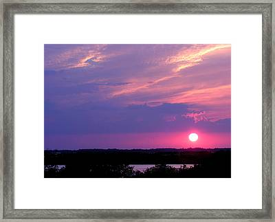 Sunset At Merritt Island Framed Print