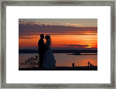 Sunset At Night A Wedding Delight Framed Print