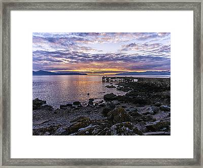 Sunset At Portencross Jetty Framed Print
