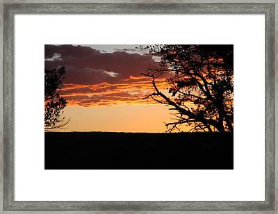 Framed Print featuring the photograph Sunset At Ridgway State Park by Marta Alfred