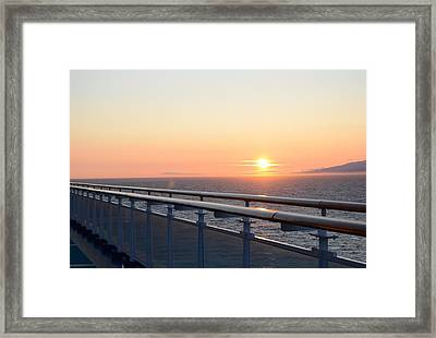 Sunset At Sea 2 Framed Print