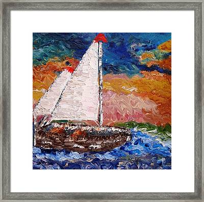 Sunset At Sea Framed Print