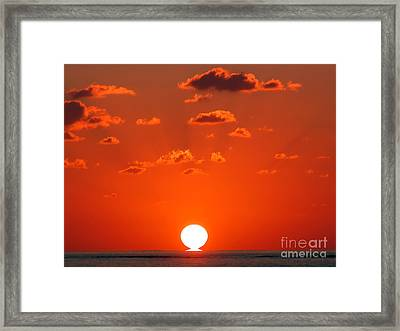Sunset At Sea Framed Print by Graham Taylor