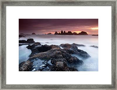 Sunset At Seal Rock Framed Print