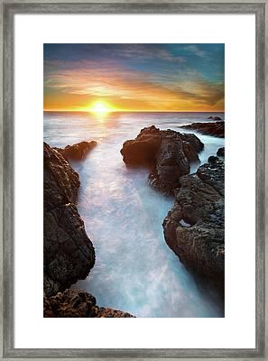 Sunset At Seashore Framed Print by John B. Mueller Photography