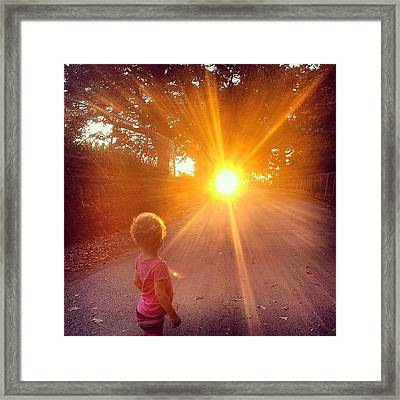 Sunset At Sunset Park Framed Print