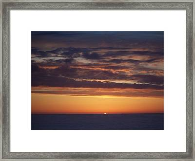 Framed Print featuring the photograph Sunset At Surfside 4 by Peter Mooyman