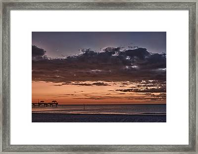 Sunset At The Beach Framed Print by Chuck Bowser