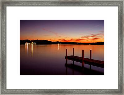 Framed Print featuring the photograph Sunset At The Dock by Michelle Joseph-Long