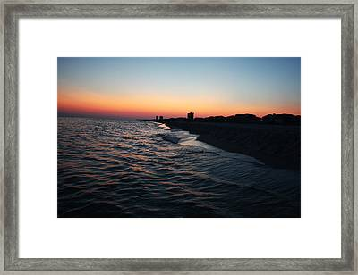 Sunset At The Gulf Shores Framed Print