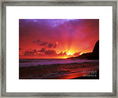 Sunset At The Island Framed Print by Gaspar Avila