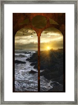 Sunset At The Jersey Shore Framed Print by Tom York Images