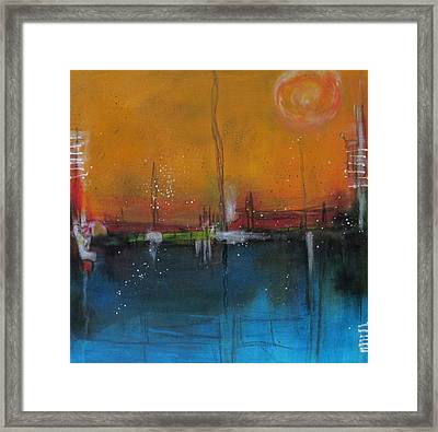 Sunset At The Lake # 2 Framed Print