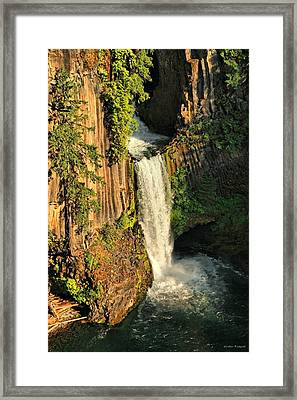Sunset At Toketee Falls Framed Print by Winston Rockwell
